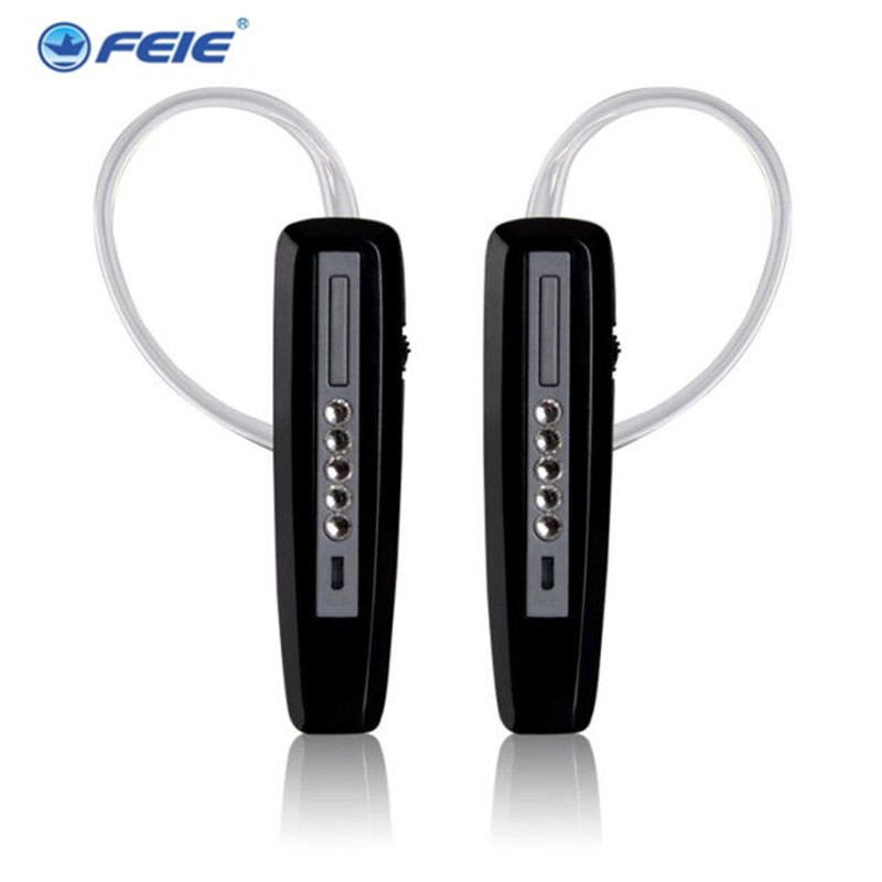 FEIE Rechargeable Hearing Aid Earphones S-101 bluetooth style Behind Ear Sound Amplifier USB Charger Free Shipping three phase solid state relay tsr 60da 60a ssr relay