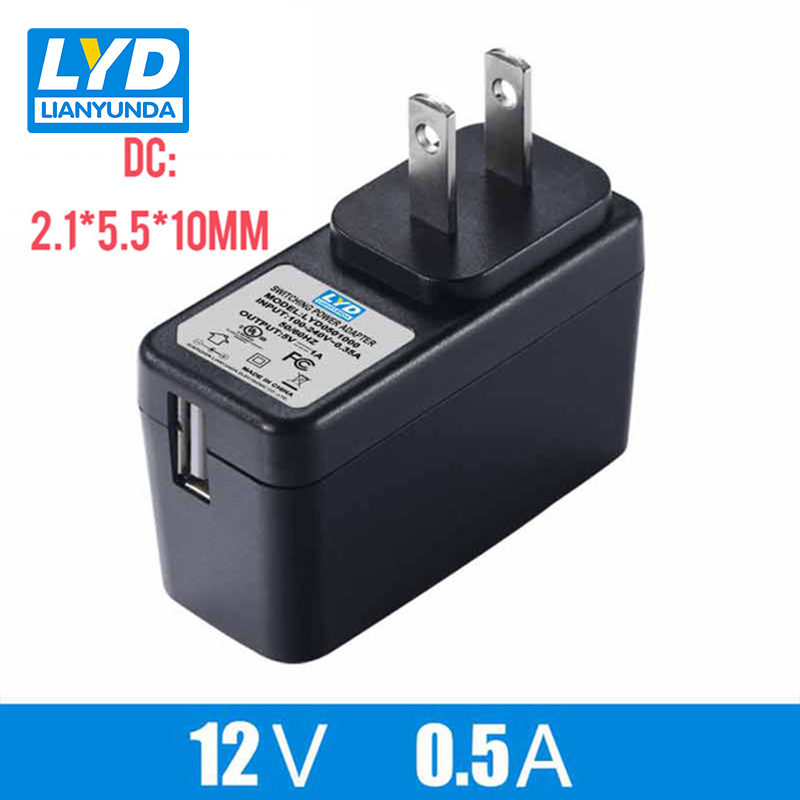 US 12V 0 5A 5 5mm 2 1mm AC DC Power Adapter For Electrical Equipment Switching Adapter Black Switching For LED Strip Light in AC DC Adapters from Home Improvement