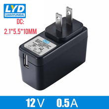 US 12V/0.5A 5.5mm*2.1mm AC-DC Power Adapter For Electrical Equipment Switching Adapter Black Switching For LED Strip Light high quality manual dc ac generator laboratory electrical experiment equipment