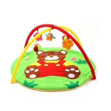 95cm Play Mat Kids Rug Educational Tiger models Baby Blanket Cute Animal Playmat Baby Gym Crawling Activity Mat Toys 3 in 1 baby playmat piano musical sleep lullaby activity fitness gym mat kid sleeping safety blanket christmas gift for children