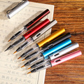 8 шт. металлическая каллиграфическая ручка  мягкая кисть для письма  акварельные чернила  авторучка  инструмент для рисования  школьные канц...