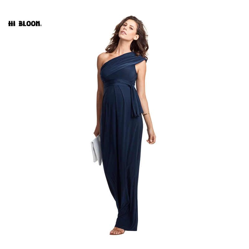 fa8a17a593de5 ... Long Maternity Maxi Dresses Maternity Clothes Elegant Evening Dress For  Pregnant Women Pregnancy Gown Office Lady ...