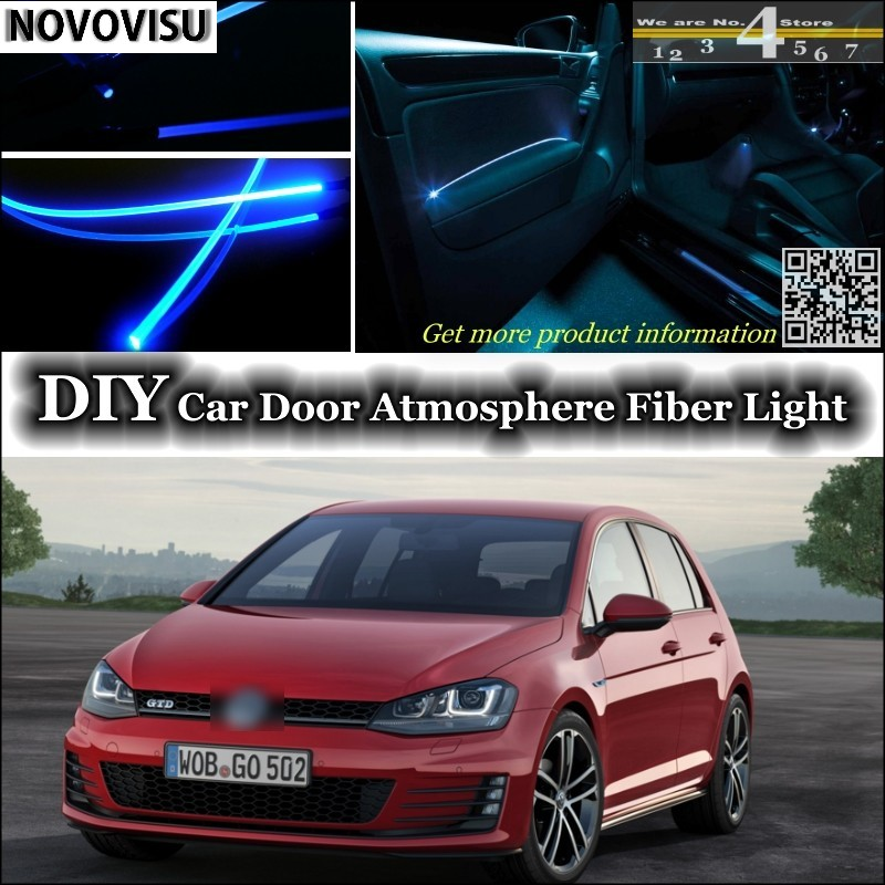 NOVOVISU For Volkswagen VW Golf 3 4 5 6 7 Rabbit Caribe Cabrio Interior Ambient Light Atmosphere Fiber Optic Band Light Door