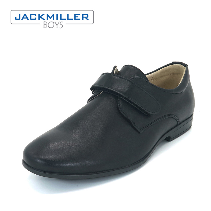 Jackmillerboys School Students Shoes children uniform PU Leather Shoes For Boys soft Black kids flats Spring autumn size 36-39