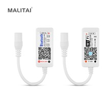 LED 스트립 라이트 와이파이/블루투스 RGB / RGBW 컨트롤러 DC 5V 12V 24V 안드로이드 IOS APP 알렉사 구글 매직 홈 IR 컨트롤