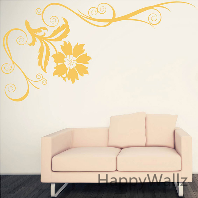 Beautiful flower wine wall sticker 3d flower wall decal diy floral decors decorating flower wallpaper f35