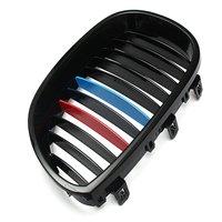 AUTO 1 Pair Car Mesh Grille For BMW E60 E61 5 Series Sedan 03 09 Black