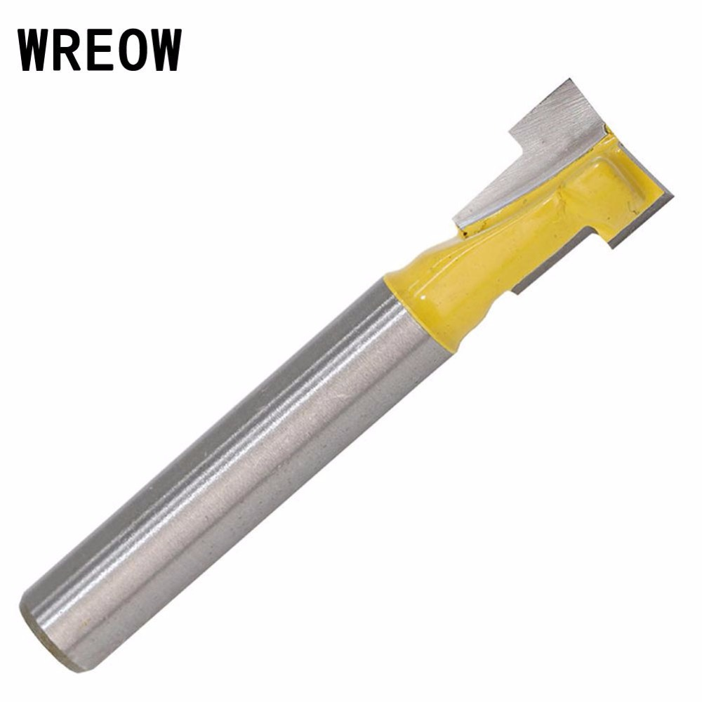 1//4Inch Shank Yellow T-Slot Lock Hole Router Bit Woodwork Cutter Tool NEW