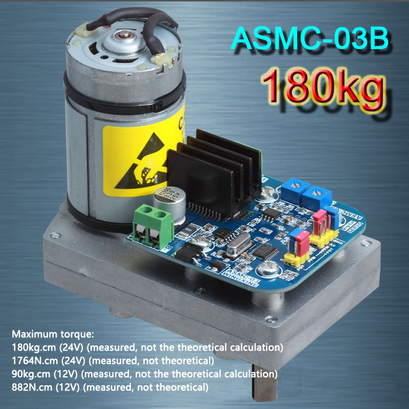 ASMC-03B High-power high-torque Servo Steering Gear MAX 180KG.CM, 0.5s-1s/60 Degree DC 12-24V for Robot Mechanical Arm 2pcs lot 180 degree 15kg 17kg biaxial digital servo ldx 218 high torque metal gear for android manipulator mechanical arm robot