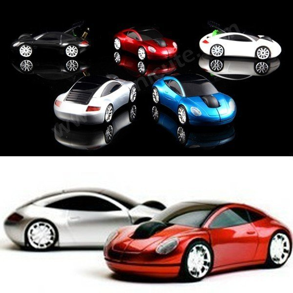 New 2.4G 1200DPI 3D Car Shape Wireless Optical Mouse Mice for Laptop PC USB Receiver