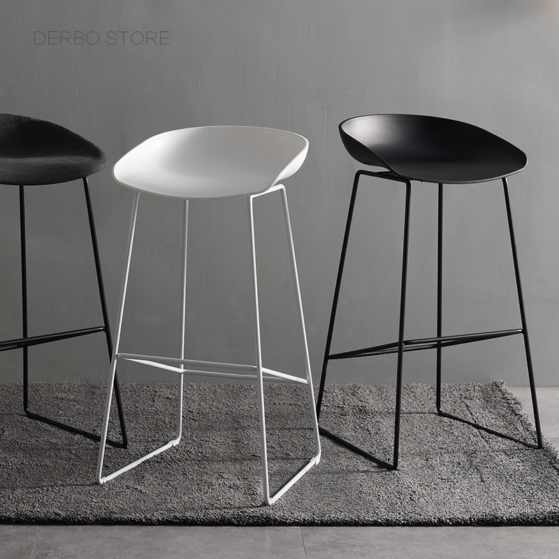 Astonishing Us 179 0 Seat Height 65Cm 75Cm Modern Design Kitchen Room Counter Stool Fashion Design Plastic And Metal Steel Bar Stool Bar Chair 1Pc In Bar Caraccident5 Cool Chair Designs And Ideas Caraccident5Info