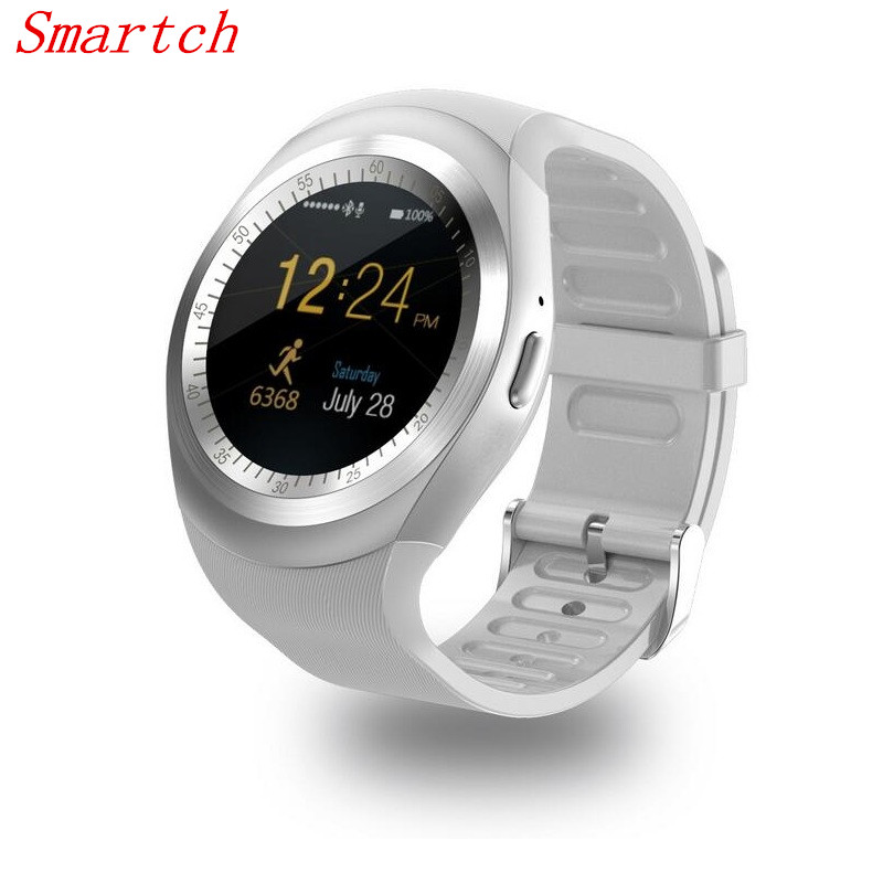 Smartch Smart Watchs Armbanduhr Y1 Runde Unterstützung Nano SIM & Tf-karte Mit Whatsapp Facebook Männer Frauen Business Smartwatch Für IOS