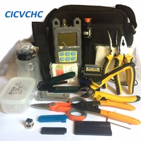 Free Shipping 25 Tools High Value Fiber Optic FTTH Tool Kit With Cleaver And Power Meter