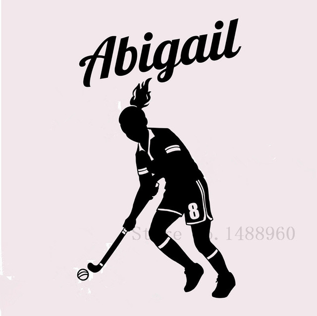 E552 wall stickers home decor diy poster decal mural vinyl wall decal decoration field hockey player