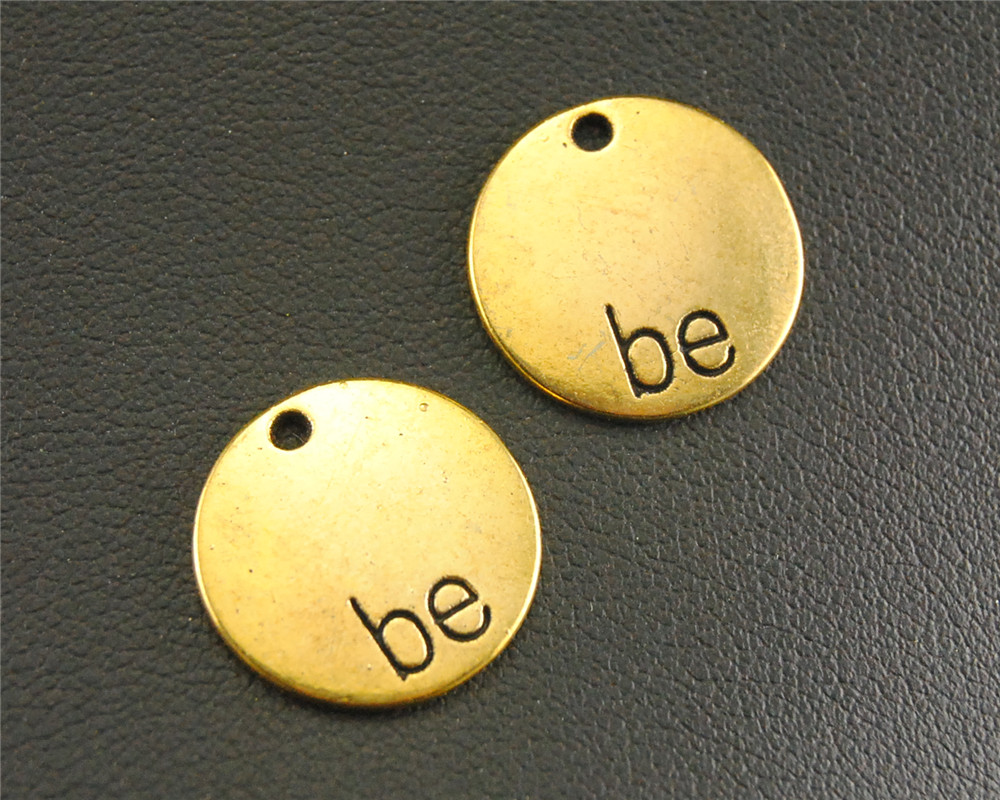 Online buy wholesale gold letter charms from china gold for Circle letter beads