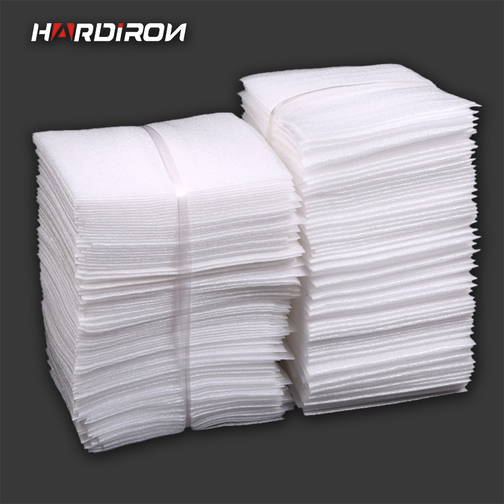 HARD IRON White PEP Packaging Bags Pearl Cotton Padded Ship Pouches Shockproof Package M ...