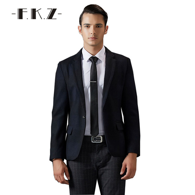 568684554f2 FKZ New Basic Trajes Para Hombre Negro Sin Pantalones de Vestir de Negocios  boda Nuevo Clásico