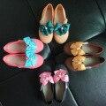 Mini Paño Arco Sandalias de La Princesa 2017 Nueva Melissa Melissa Zapatos de Niña Arco Flores de Tela Zapatos de La Princesa Del Bebé Sandalias Zapatos de La Jalea
