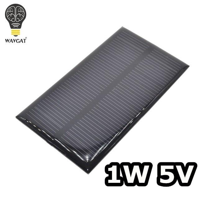 Умная электроника солнечная панель 1 Вт 5 В электронная DIY Маленькая солнечная панель для сотового телефона зарядное устройство Домашний Св...