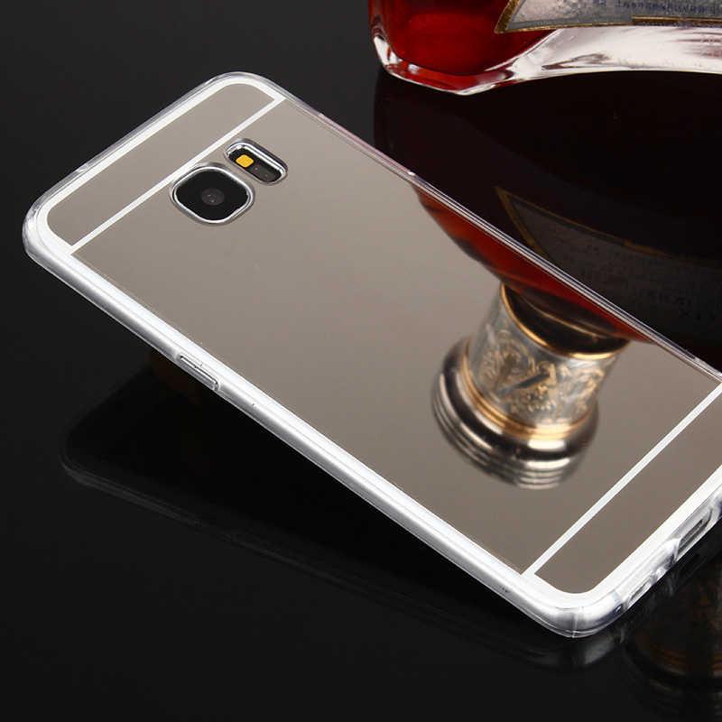 מקרה טלפון סלולרי עבור Samsung galaxy S8 S9 בתוספת S6 S7 קצה S3 duos S4 S5 neo הערה 3 4 5 8 9 Note8 Note9 גרנד ראש מראה כיסוי