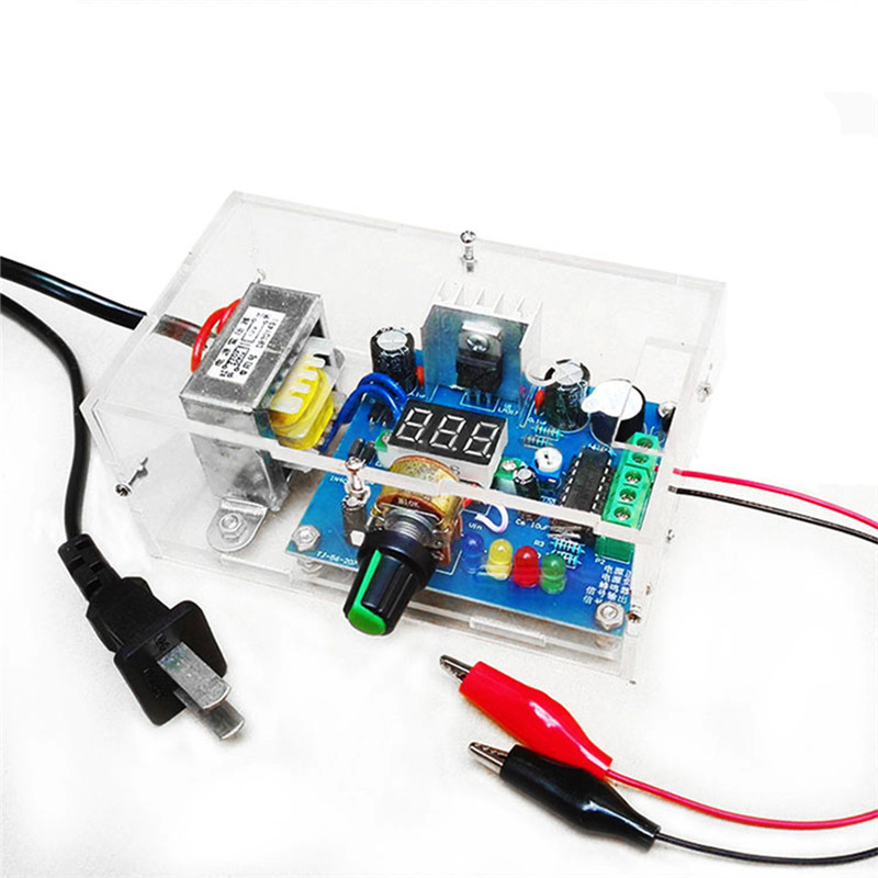 DIY Kit LM317 Adjustable Regulated Voltage 220V to 1.25V-14.5V Step-down Power Supply Module PCB Board DIY Electronic with shell