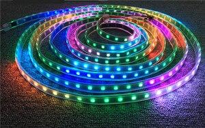 Image 5 - WS2812B DC5V wodoodporna taśma pikselowa led light 1 m/4 m/5 m 2812 IC wbudowana indywidualnie adresowalna lampa taśmowa RGB 30/60/144 leds/m