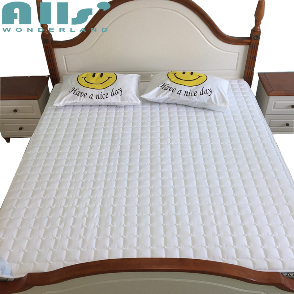 Solid Mattress Pad/Cover Sanding Fabric Bed Protection Pad Twin/Single/Queen/Full/Double/King Size Padded Non-Slip Bedspread