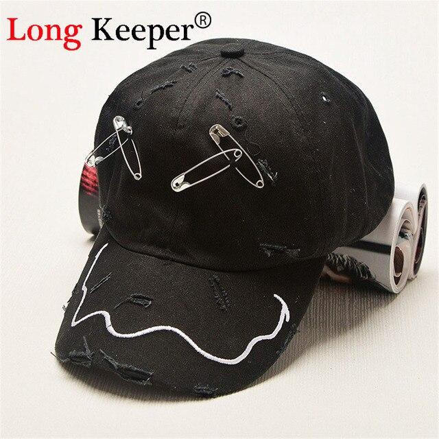US $4 97 39% OFF|Long Keeper Men's Hats XX New Brand Hip Hop Snapback Caps  GD Hat Pin Hole Cap Baseball Cap Tide Hat Black Unisex Leisure HAT-in