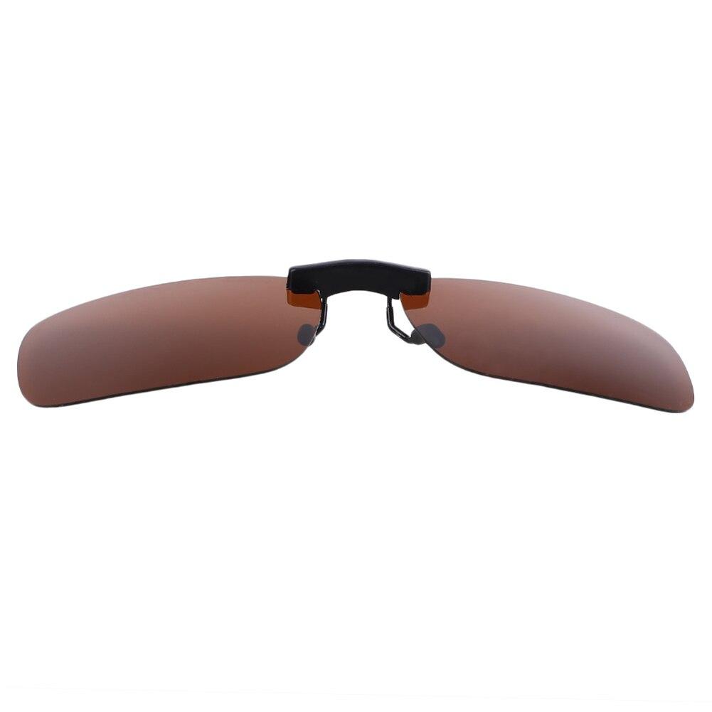 Смола поляризованные солнцезащитные очки из алюминиево-магниевого сплава кожаный чехол из искусственной кожи(солнечные очки с клипсой из UV400 защита для вождения - Цвет: Polarizing yellow g
