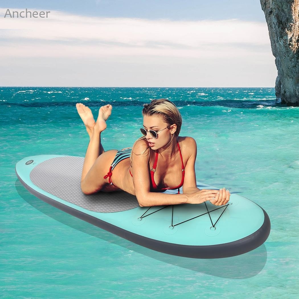 Surfing Sports 10ft Inflatable Surfing Stand Up Paddle Board iSUP with Adjustable Paddle Backpack Hand Pump funny summer inflatable water games inflatable bounce water slide with stairs and blowers