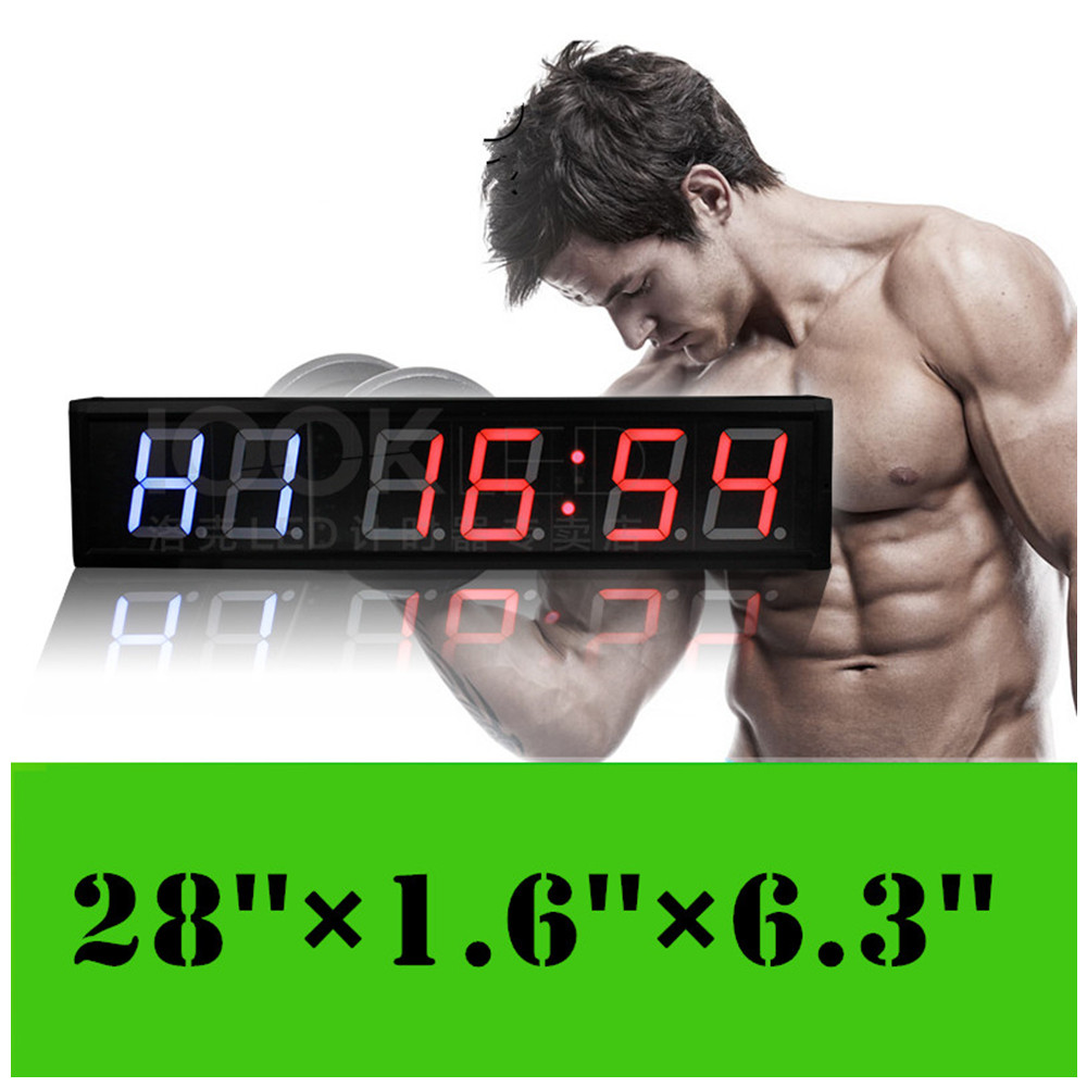 4inch fitness gym crossfit interval timer remote large led digital 4inch fitness gym crossfit interval timer remote large led digital wall clock countdown stopwatch timing for training and rest in wall clocks from home amipublicfo Choice Image