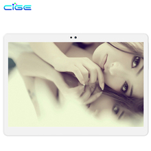Cige двойной 4 г LTE и 3 г телефон Tablet PC 10.1 «IPS 1920×1200 Android 6.0 MTK8752 Восьмиядерный WCDMA Bluetooth двойная Камера 4 ГБ/64 ГБ
