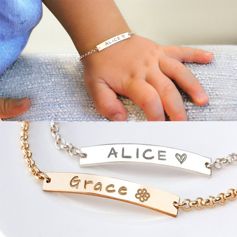Personalised Bracelet choose any name And String Colour Baby name bracelet