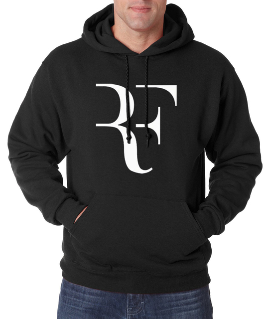 Roger Federer hooded men creative RF men sweatshirt 2016 autumn winter new hoodies men fashion casual slim fit fleece men hoodie