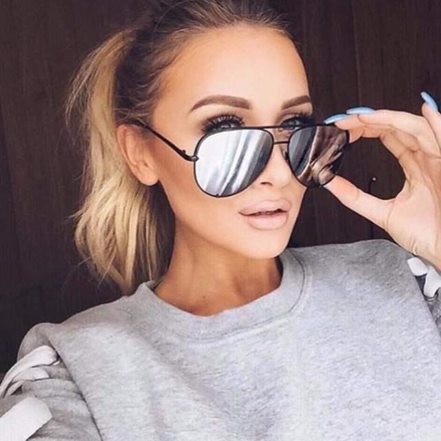 74c3d85352c9 placeholder Good Quality Flat lens famous italy Brand Pilot Mirror Designer  Sunglasses Women or Men Sun glasses