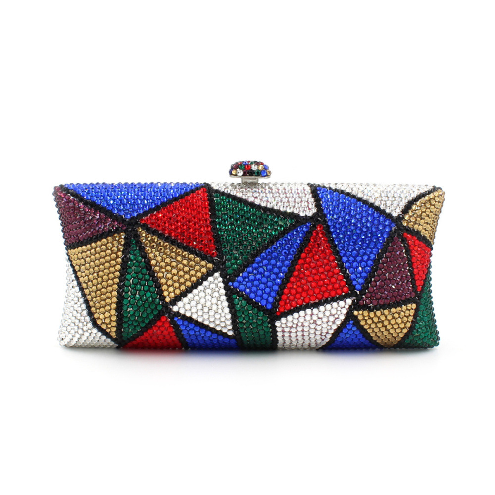 2017 new women evening bags colorful geometric diamonds ladies single shoulder handbag wedding party dinner bag day clutches sac aequeen evening clutch bags women wedding party bags retro shoulder bags ladies day clutches diamond chains handbag