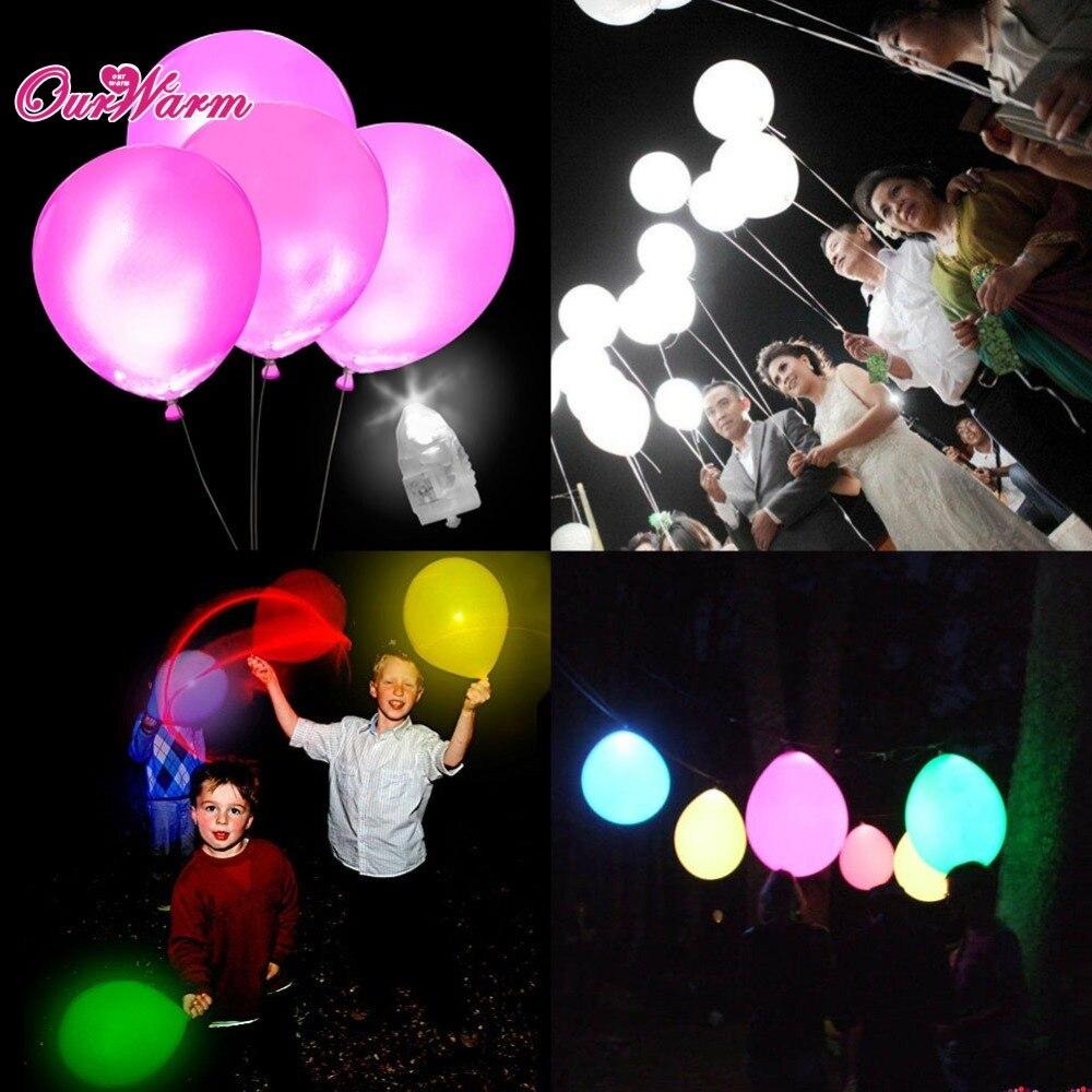 50 pcslot blanc led lampes ballon lumires led ballon lumire pour la dcoration de - Ballon Phosphorescent Mariage