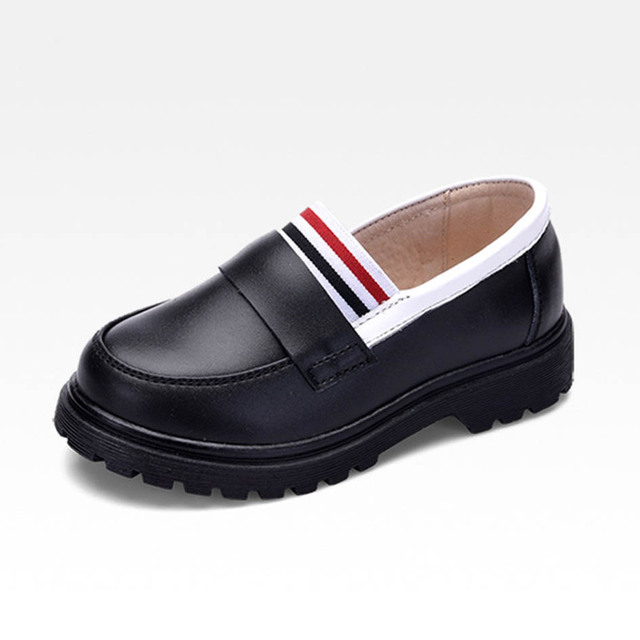 European And American Style Kids Boys Leather Shoes Slip on Genuine Leather Boys Dress Shoes Kids Boy School Shoes Zapatos Ninos