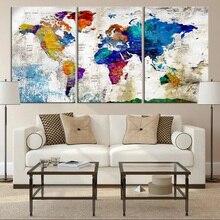 diy 3 pcs,Diamond Embroidery,Colorful World Map,5D,Diamond Painting Cross Stitch,3D picture,Diamond Mosaic,home Decoration Z428