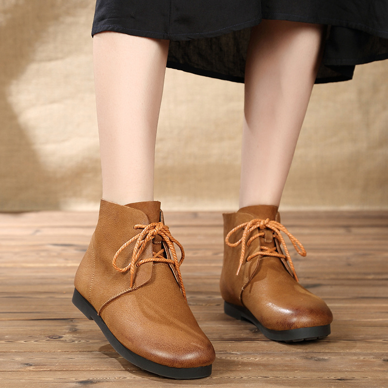 2018 autumn and winter new comfortable retro female round head soft bottom strap walking shoes B1J1-B1J22018 autumn and winter new comfortable retro female round head soft bottom strap walking shoes B1J1-B1J2