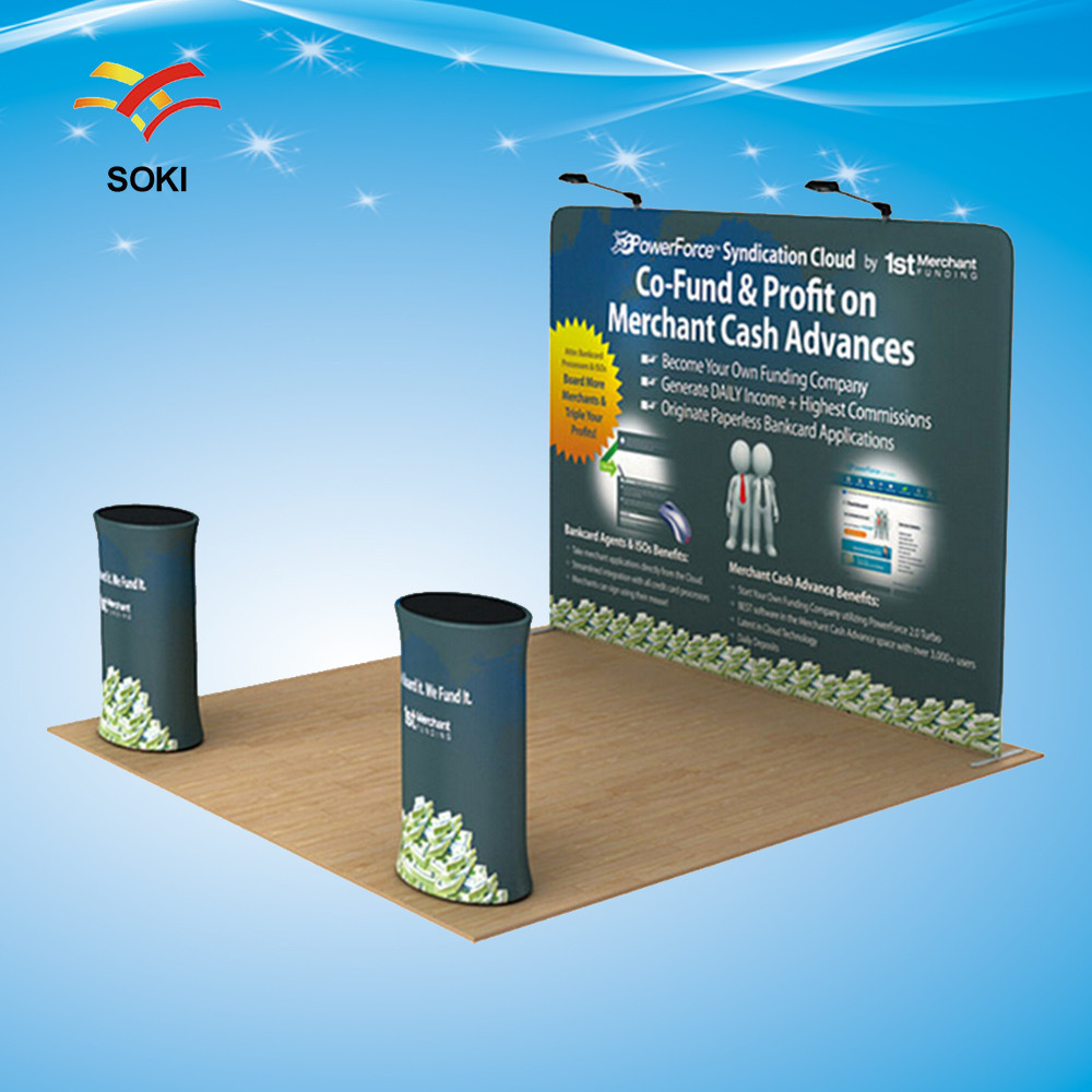 Fabric Exhibition Stand : Display stand tension fabric trade show display 10ft straight curved