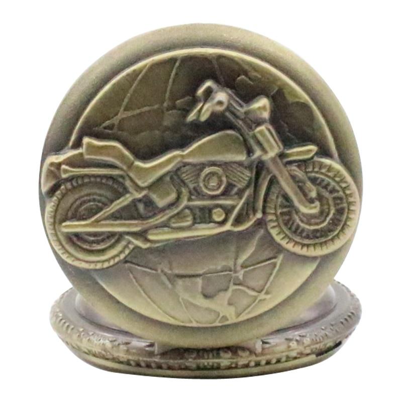 TIEDAN New Fashion Motor Bike Design Steampunk բրոնզե Vintage - Գրպանի ժամացույց - Լուսանկար 5