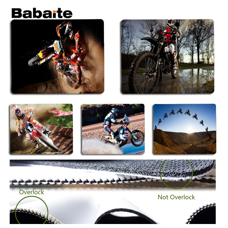 Babaite 2018 New Motocross Laptop Gaming Mice Mousepad Size for 180x220x2mm and 250x290x2mm Small Mousepad