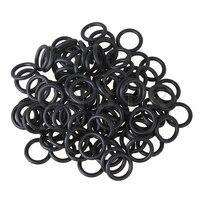 100x Black Rubber Seal Dispensing Syringe O Ring For 10cc Syringe Barrel Adapter
