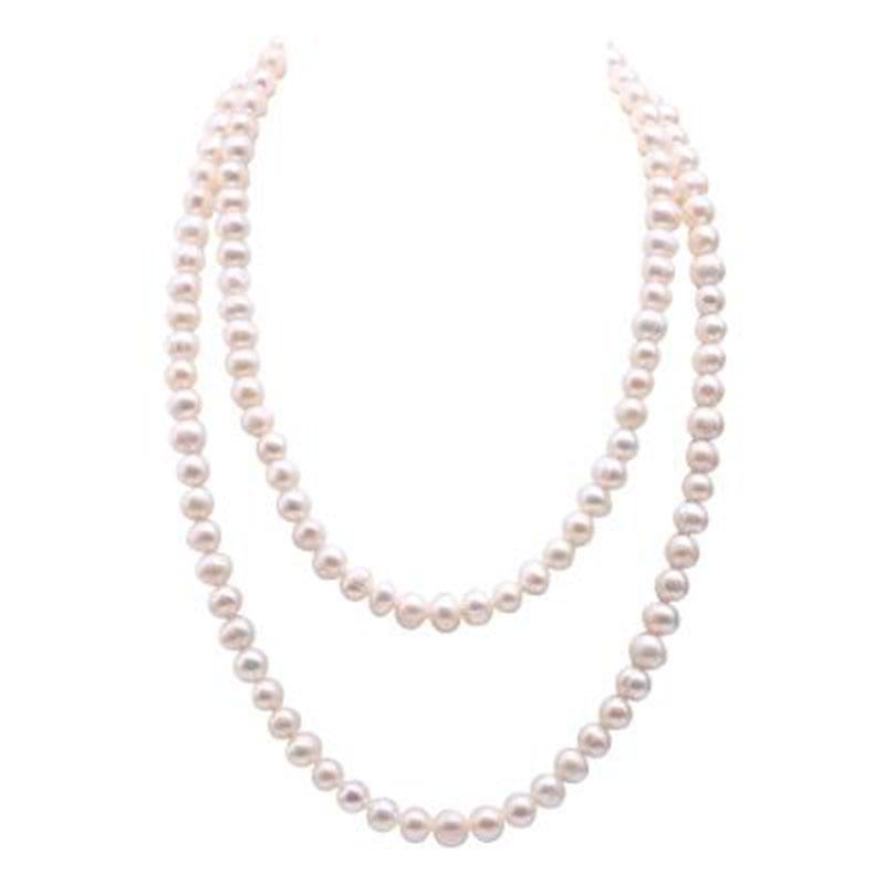 Jyx Perle Halskette Für Frauen 8mm Gefärbt-blau Runde Süßwasser Perle Halskette 19 choker Halskette GüNstigster Preis Von Unserer Website Edler Schmuck