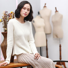 2017 Newes Off White Sweater Pure Cashmere Pullovers Fall Sweaters For Women O neck Long Sleeve