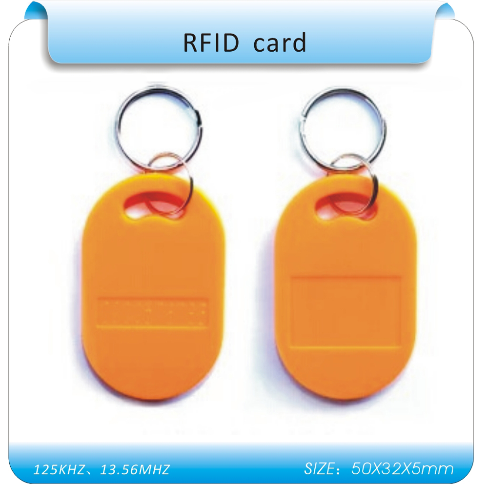 10pcs 8# 125Khz RFID Tag Proximity Keyfobs Ring Access Control Card  For Access Control Time Attendance