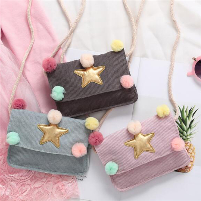 Children's Coin Purse Wallet Crossbody Messenger Bags Purse Pouch Handbags Gifts Star Ball Shoulder Bag Kids Money Cash Pocket(China)