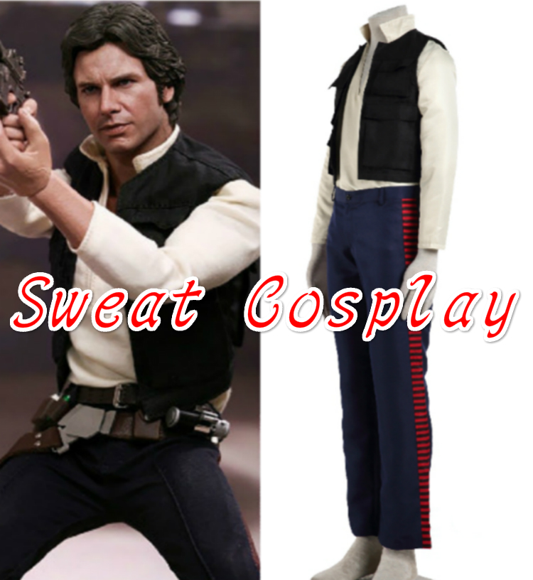 High Quality Star Wars Costume Han Solo Costume Adult Halloween