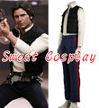 High Quality Star wars costume Han Solo costume adult Halloween costumes for men cosplay Han Solo suit Cosplay Costume